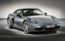 Обои фон, купе, Porsche, Cayman, порше, кайман, 718