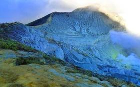 Обои гора, вулкан, Индонезия, остров Ява