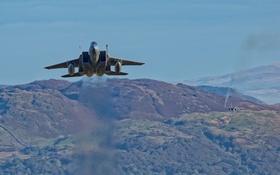 Обои полет, истребитель, Eagle, F-15C