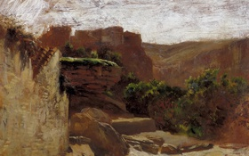Обои пейзаж, картина, Карлос де Хаэс, Нуэвалос