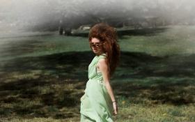 Картинка девушка, платье, рыжая