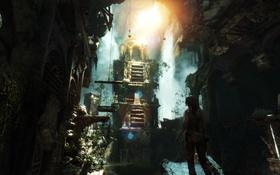 Обои девушка, город, lara croft, tomb raider, Rise of the: Tomb Raider