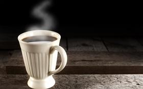 Обои фон, кофе, горячий, пар, кружка