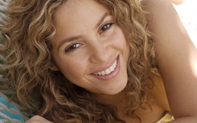 Картинка лицо, улыбка, модель, певица, Shakira