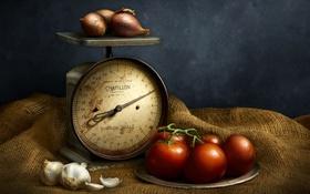 Обои фон, овощи, весы