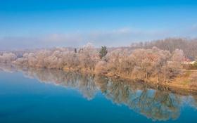 Обои Croatia, небо, Хорватия, природа, деревья, река