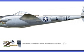Обои aircraft, illustrations, P-38 Lightning