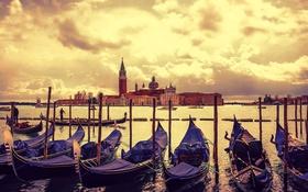 Обои лодка, Италия, Венеция, канал, гондола