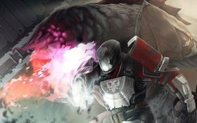 Обои ogre, солдат, шлем, titan, destiny, art