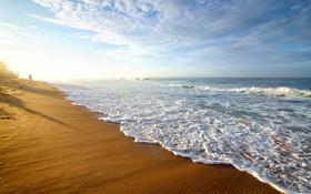 Обои песок, море, пляж, beach, sea, sand, shore