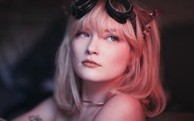Обои девушка, портрет, розовые волосы
