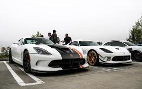 Обои Dodge, white, Viper, T/A