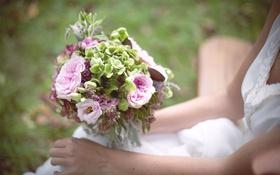 Обои цветы, букет, свадебный