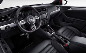 Обои панель, интерьер, Volkswagen, руль, салон, фольксваген, торпедо
