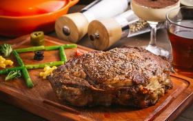 Обои мясо, спаржа, буженина