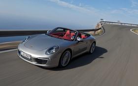 Картинка 911, Porsche, шоссе, кабриолет