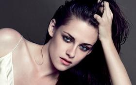 Картинка лицо, фон, модель, портрет, макияж, актриса, брюнетка