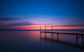 Обои небо, облака, закат, берег, вечер, Швеция, Балтийское море