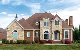 Обои дом, здание, кирпич, особняк, кусты