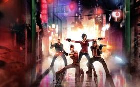 Обои игра, art, Hana Tsu-Vachel, Rain Qin, fear effect, Royce Glas