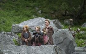 Обои дети, Vikings, Викинги, Alyssa Sutherland, Aslaug