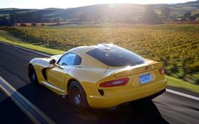 Обои Dodge, Viper, Dodge Viper, Yellow, SRT, SRT Viper, Viper Yellow