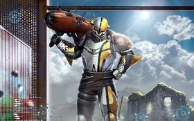 Обои bungie, шлем, titan, destiny, art, броня, pvp