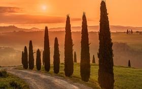 Обои Italy, Tuscany, Val d'Orcia