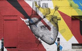 Обои город, улица, графити