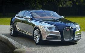 Картинка Bugatti, концепт, хром