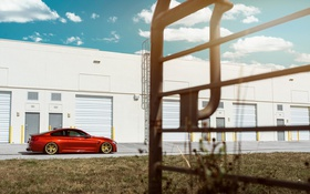 Картинка BMW, Orange, Car, Sport, Wheels, F82, Rear