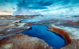 Картинка Iceland, Hverir, geothermal