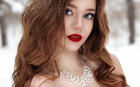 Обои губы, Olga Galitsyna, макияж
