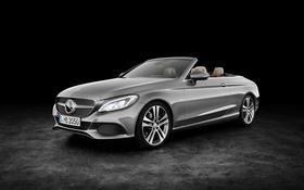 Картинка Mercedes-Benz, A205, AMG, Cabriolet, кабриолет, C-Class, черный фон