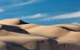 Обои песок, небо, пейзаж, пустыня