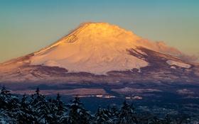 Обои небо, пейзаж, гора, вулкан, Япония, Fuji