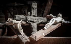 Обои макро, фон, кресты