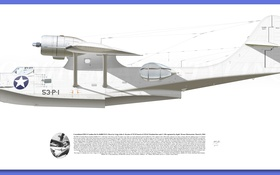 Картинка white, Aircraft illustration, raf PBY Catalina