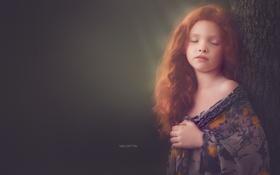 Обои девочка, портрет, взгляд