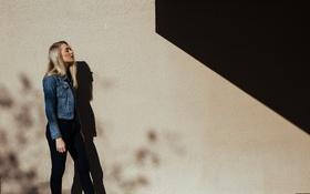 Картинка девушка, тень, блондинка