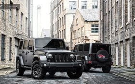 Обои черный, джип, Project Kahn, Black, Wrangler, Jeep, вранглер