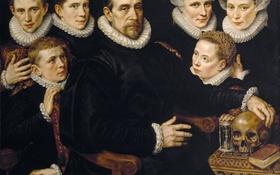 Обои картина, Семейный Портрет, Адриан Томас Кей