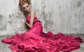 Картинка Девушка, платье, блондинка, girl, woman