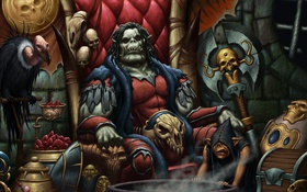 Обои dungeons and dragons, look, Ork