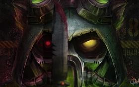 Обои helmet, look, League of Legends, eyes
