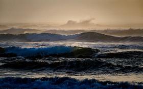 Обои море, волны, вода, шторм