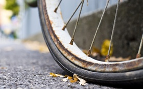 Обои велосипед, фон, колесо