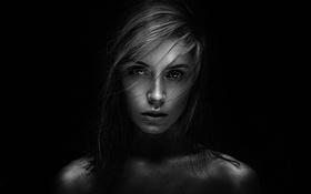 Картинка Девушка, Фото, Взгляд, Модель, Портрет, Красивая, Ксения Кокорева