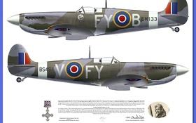 Обои WW2, Supermarine, Spitfire Mk IXC 611 SQ Biggin