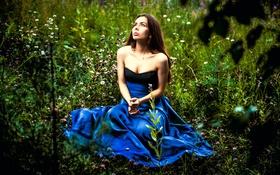 Картинка платье, декольте, губки, прелесть